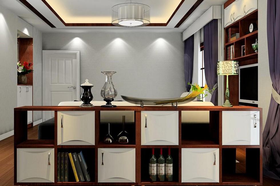 客厅隔断柜组合 玄关装修效果图设计